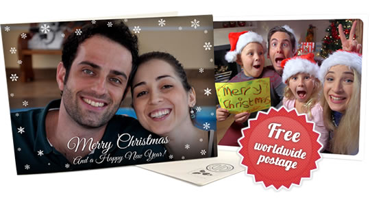 Holiday cards and postcards - via the Touchnote app - check our delivery times for Christmas